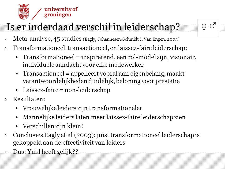Is er inderdaad verschil in leiderschap
