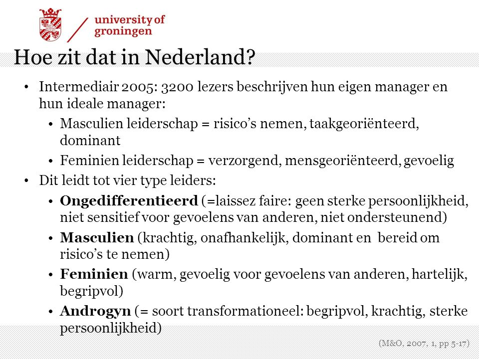 Hoe zit dat in Nederland