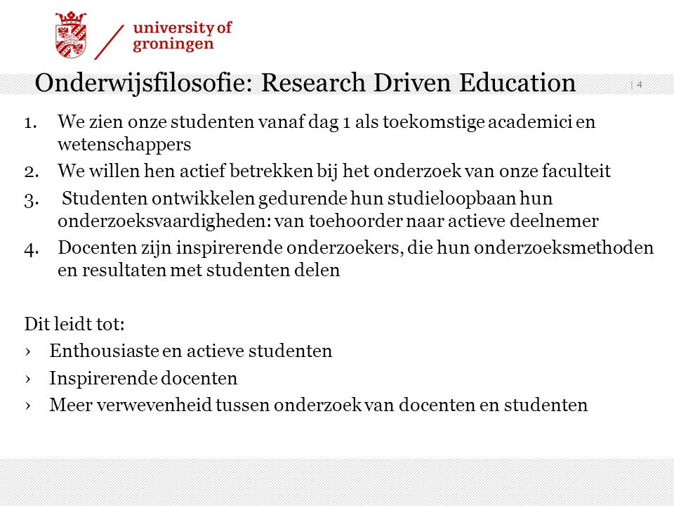 Onderwijsfilosofie: Research Driven Education
