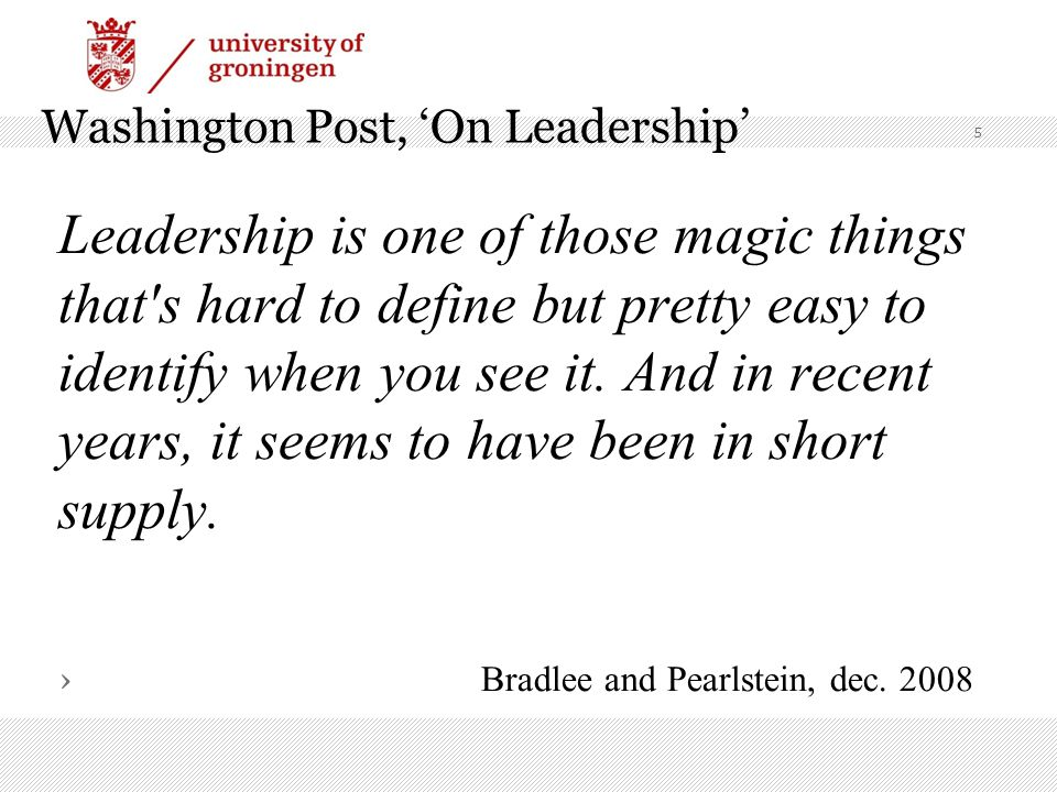 Washington Post, 'On Leadership'