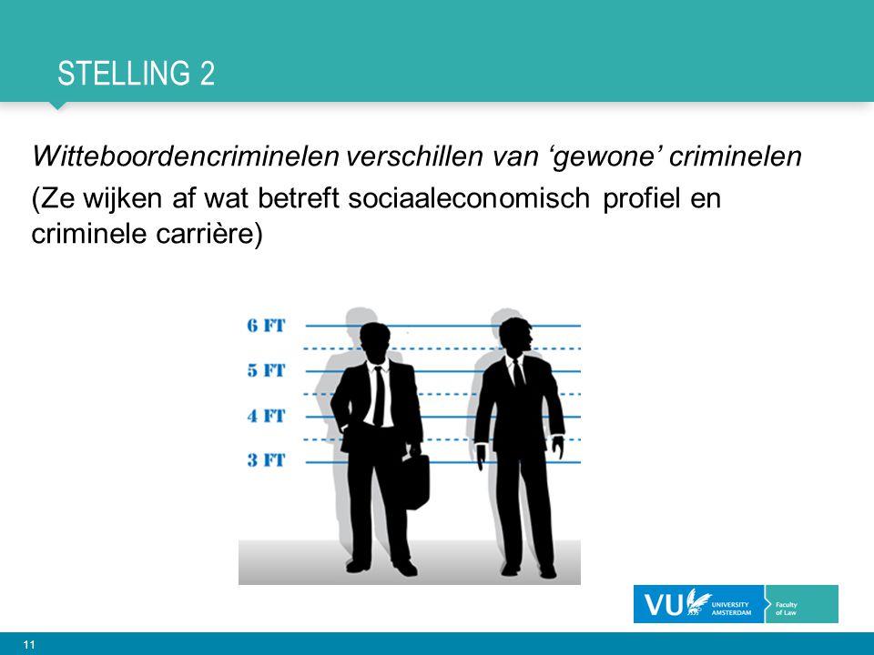 Stelling 2 Witteboordencriminelen verschillen van 'gewone' criminelen
