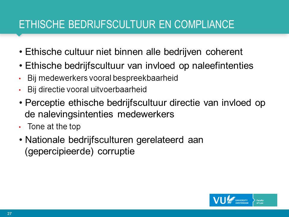Ethische bedrijfscultuur en compliance
