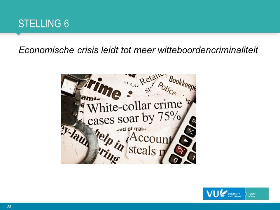 Stelling 6 Economische crisis leidt tot meer witteboordencriminaliteit
