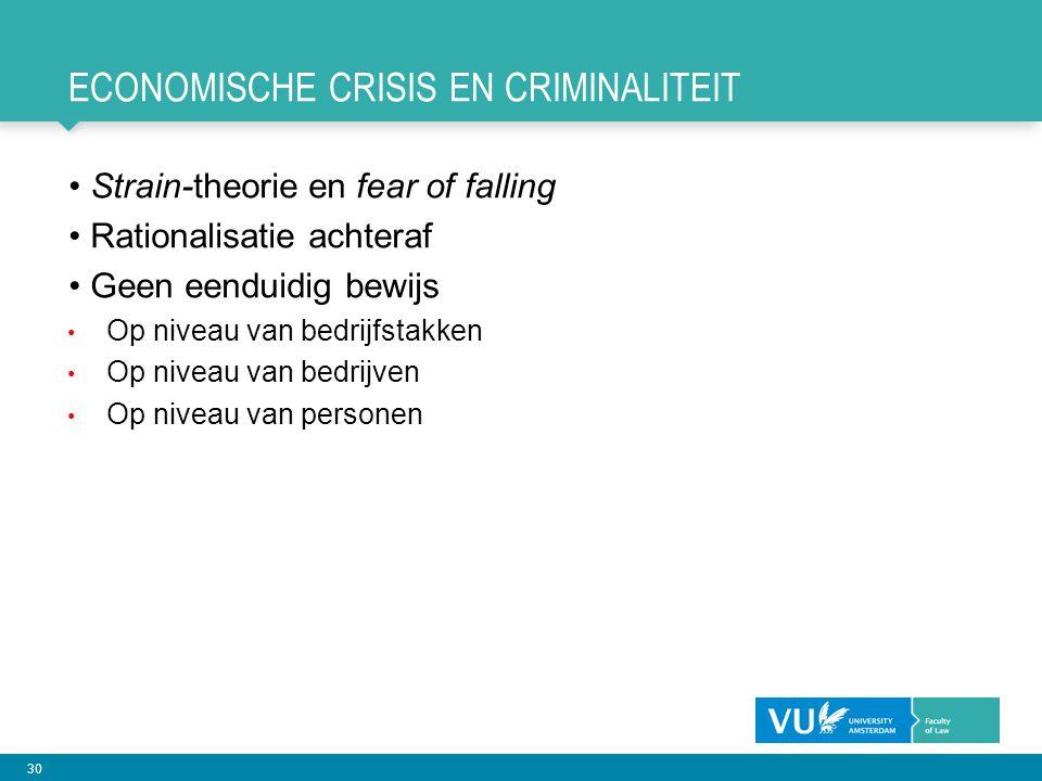 Economische crisis en criminaliteit