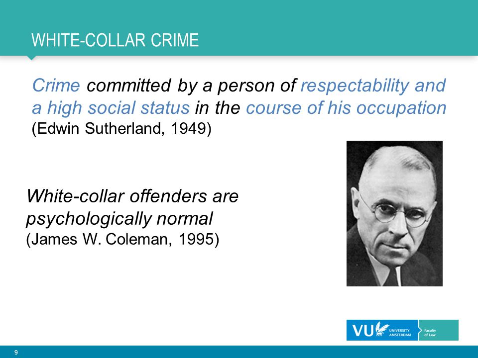White-collar offenders are psychologically normal