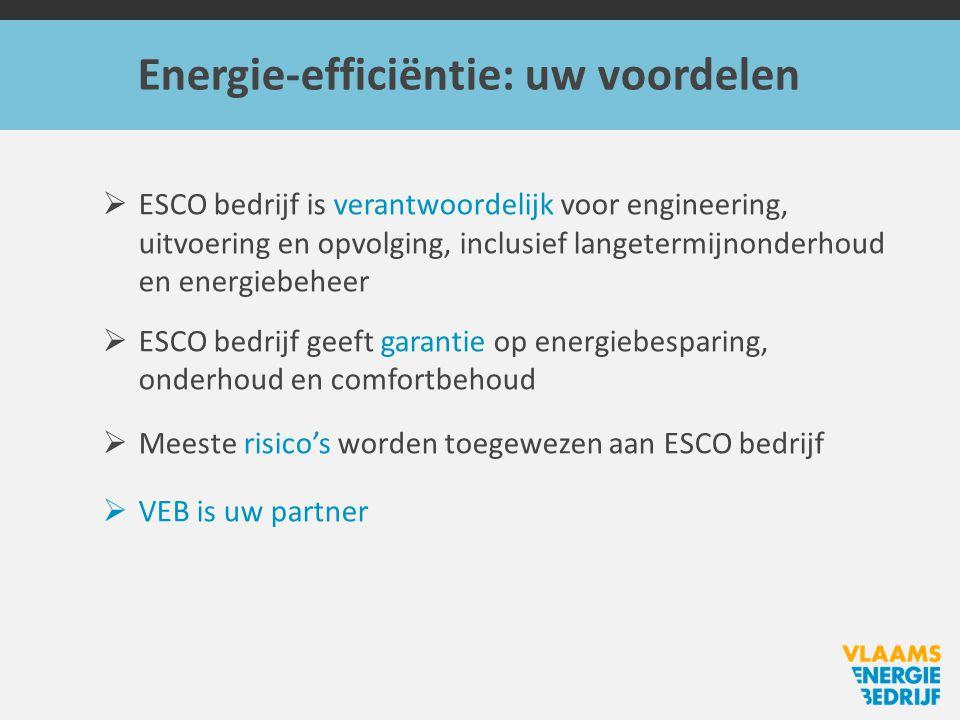Energie-efficiëntie: uw voordelen