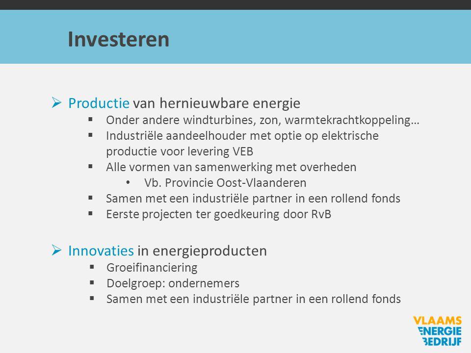 Investeren Productie van hernieuwbare energie
