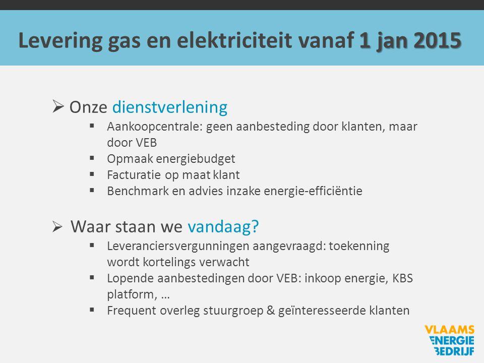 Levering gas en elektriciteit vanaf 1 jan 2015