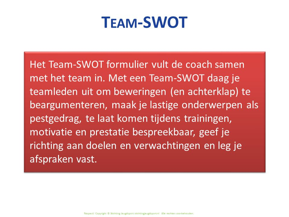 Team-SWOT