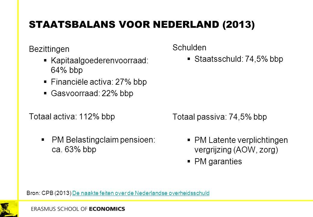 staatsbalans voor Nederland (2013)