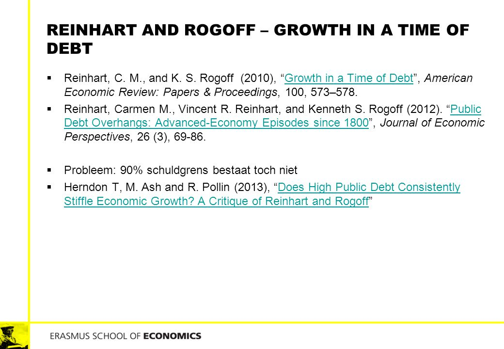 Reinhart and rogoff – growth in a time of debt