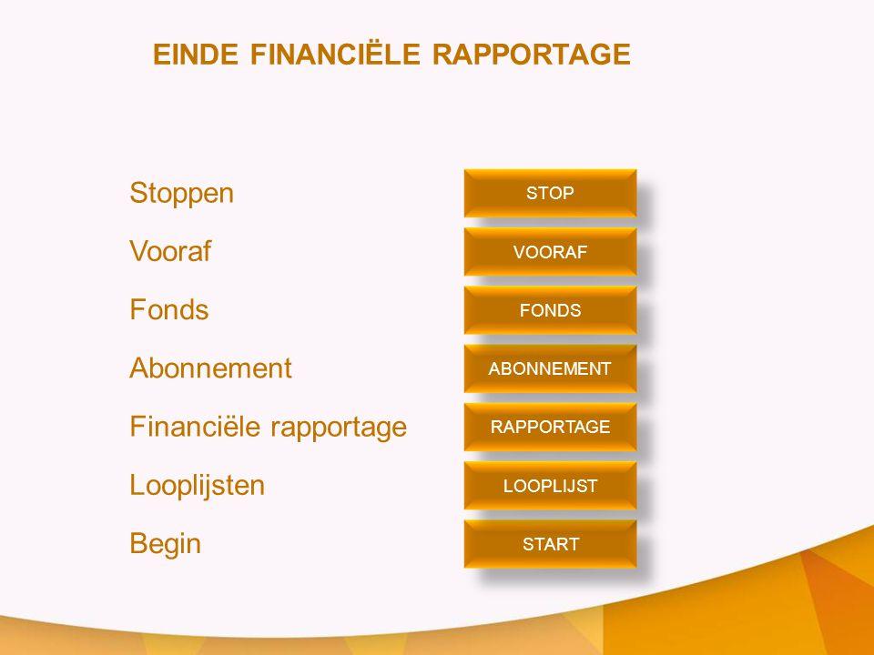 EINDE FINANCIËLE RAPPORTAGE