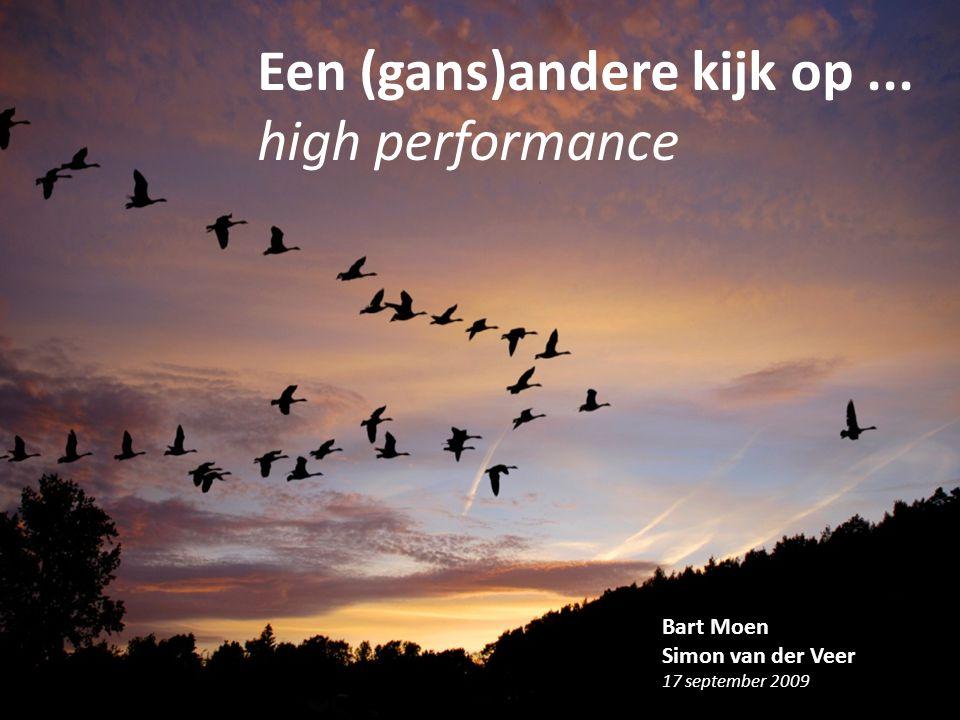 Een (gans)andere kijk op ... high performance
