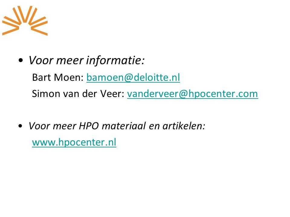 Voor meer informatie: Bart Moen: bamoen@deloitte.nl