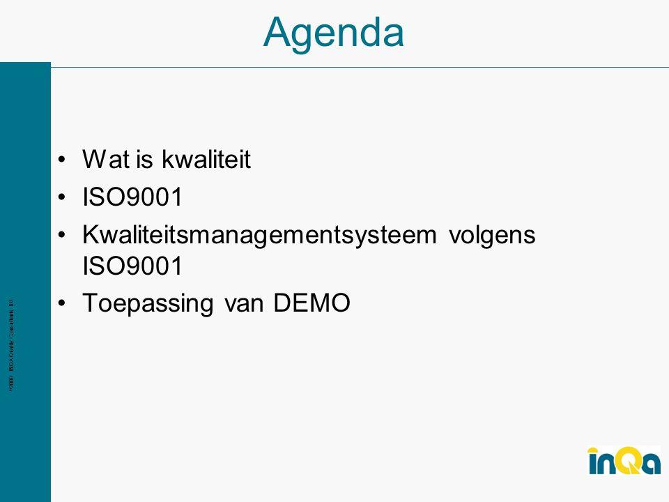 Agenda Wat is kwaliteit ISO9001