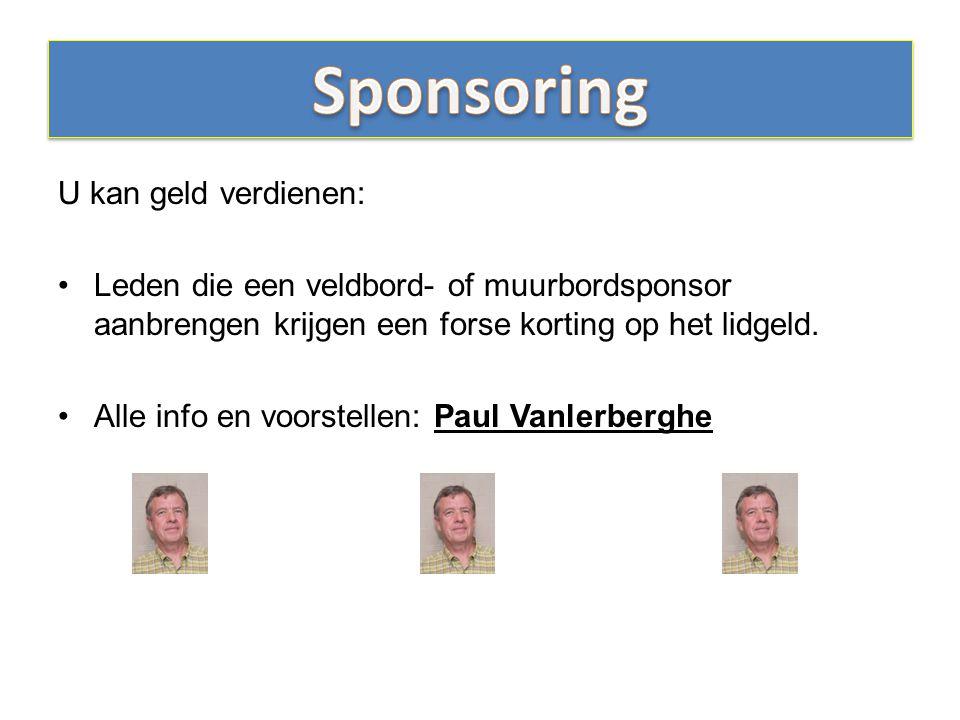 Sponsoring U kan geld verdienen: