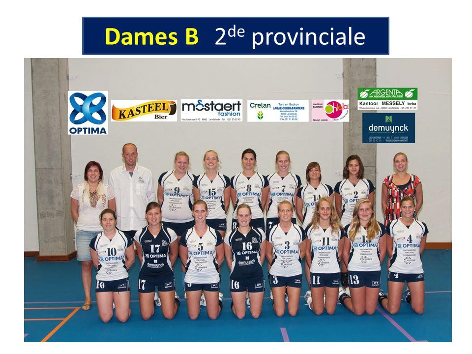 Dames B 2de provinciale