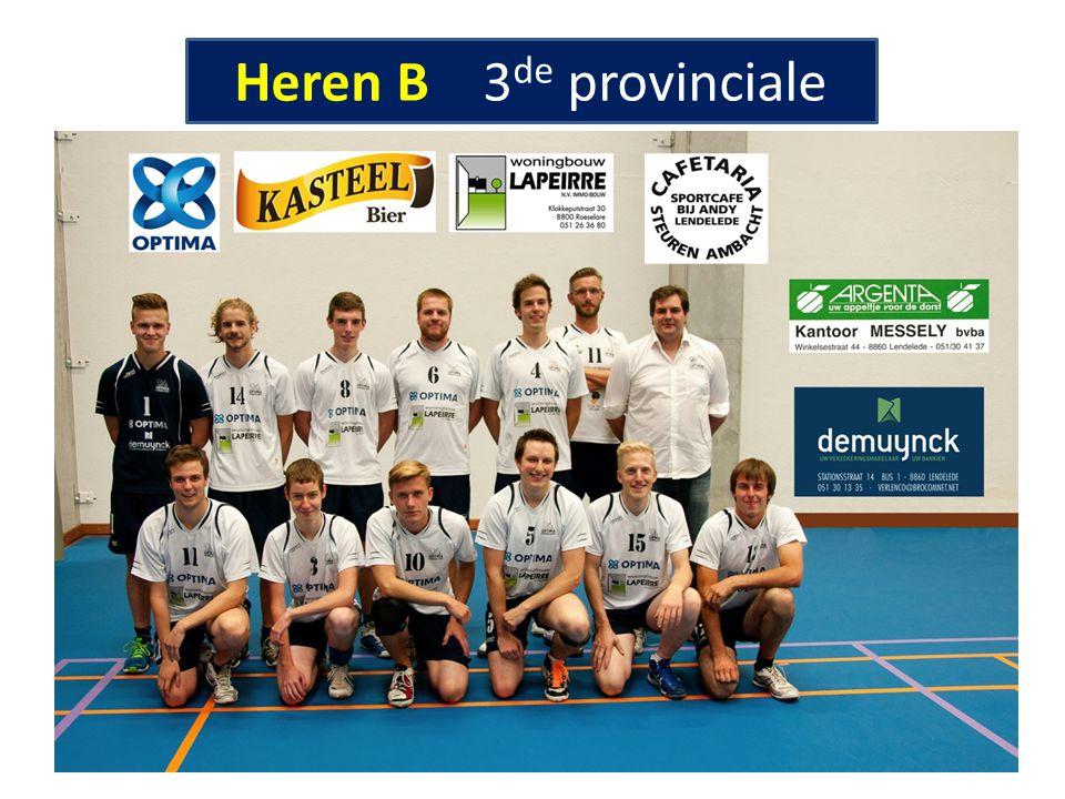 Heren B 3de provinciale