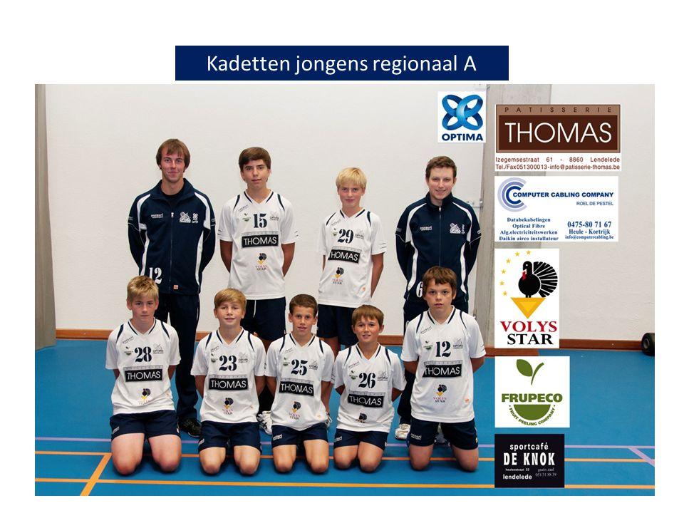 Kadetten jongens regionaal A