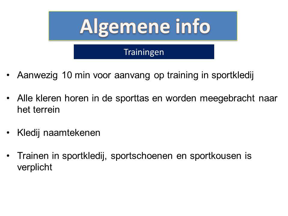 Algemene info Trainingen