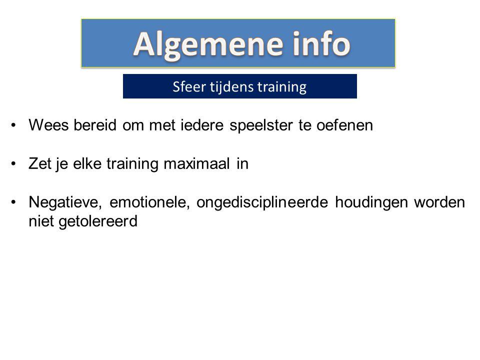 Sfeer tijdens training