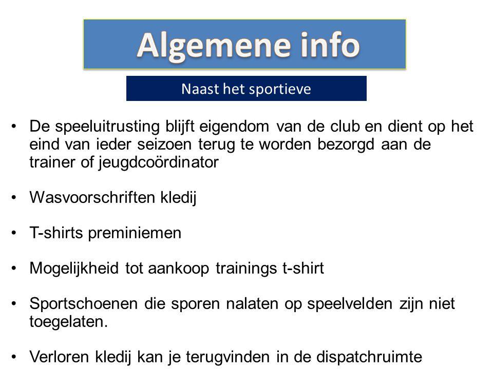 Algemene info Naast het sportieve
