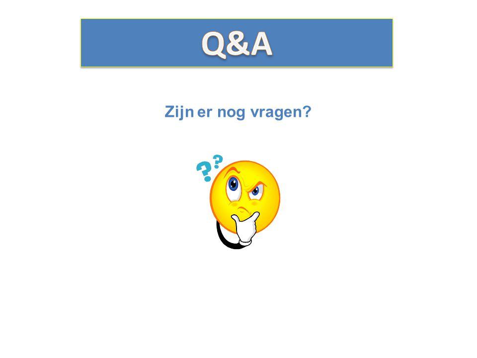 Q&A Zijn er nog vragen