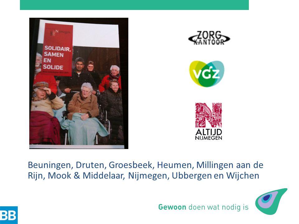 Beuningen, Druten, Groesbeek, Heumen, Millingen aan de Rijn, Mook & Middelaar, Nijmegen, Ubbergen en Wijchen