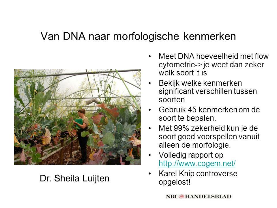 Van DNA naar morfologische kenmerken