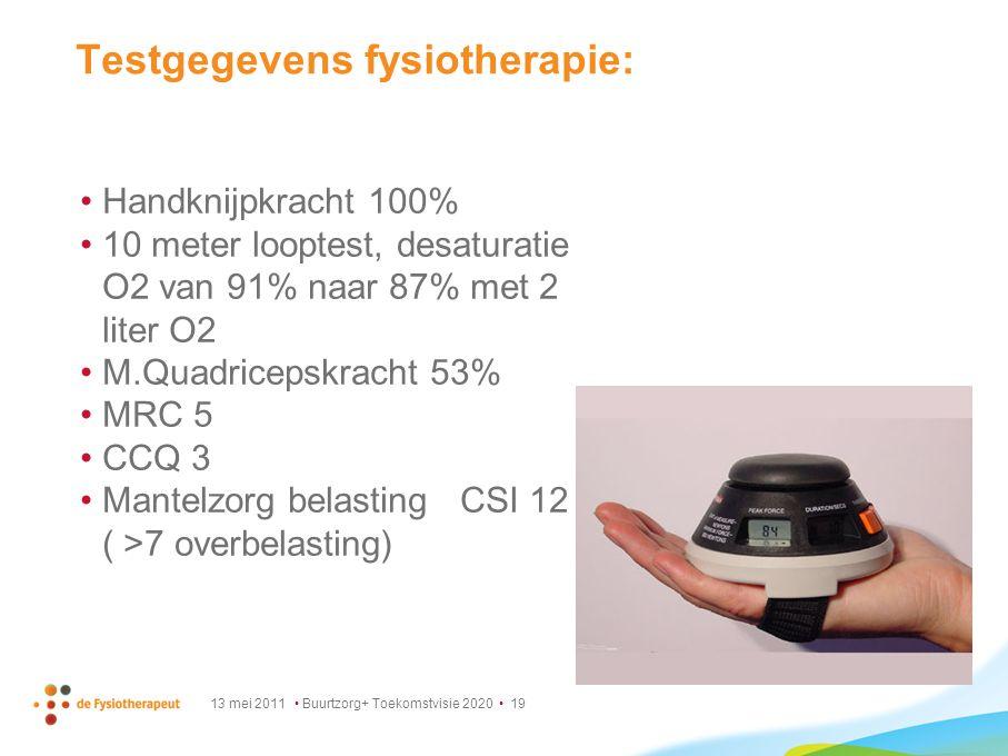 Testgegevens fysiotherapie: