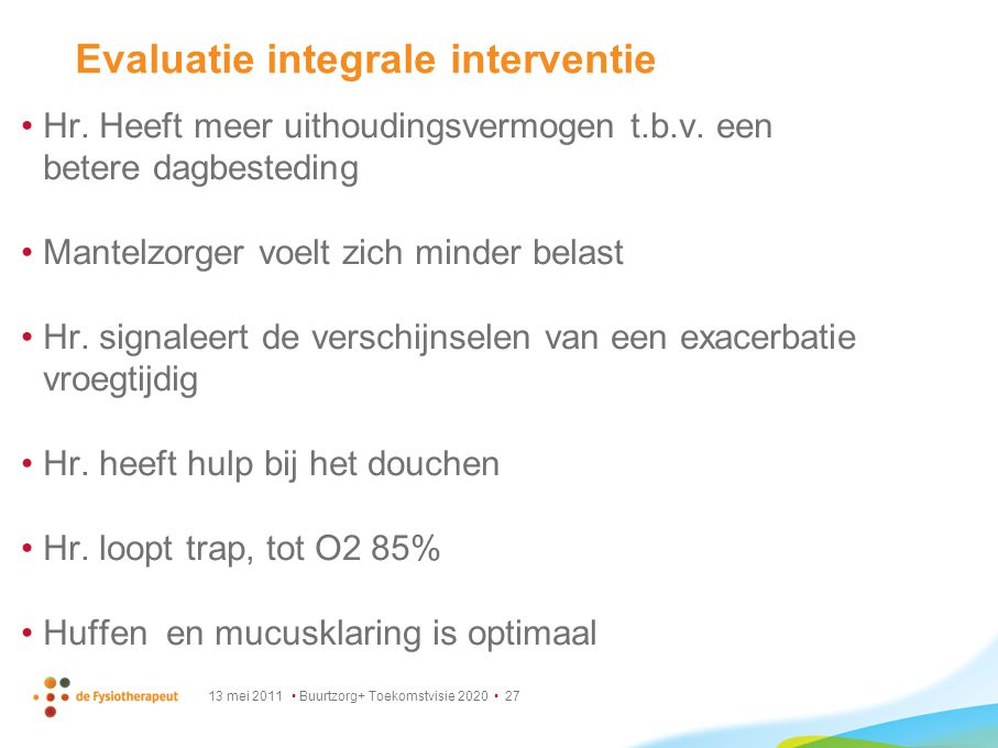 Evaluatie integrale interventie