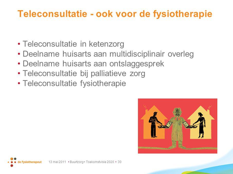 Teleconsultatie - ook voor de fysiotherapie