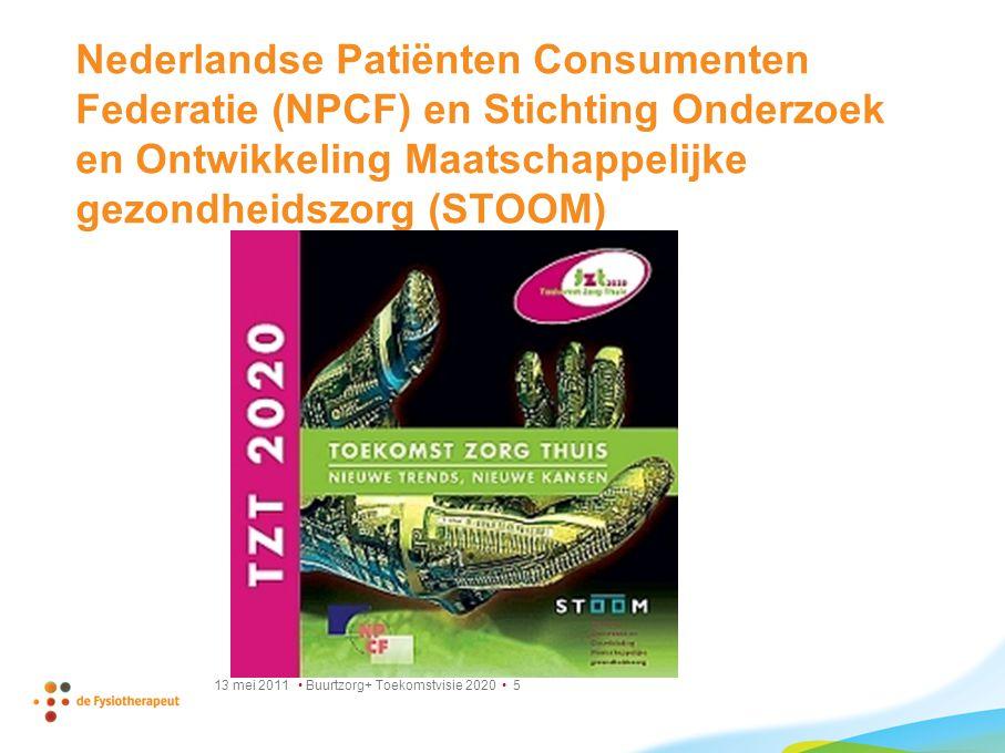 Nederlandse Patiënten Consumenten Federatie (NPCF) en Stichting Onderzoek en Ontwikkeling Maatschappelijke gezondheidszorg (STOOM)
