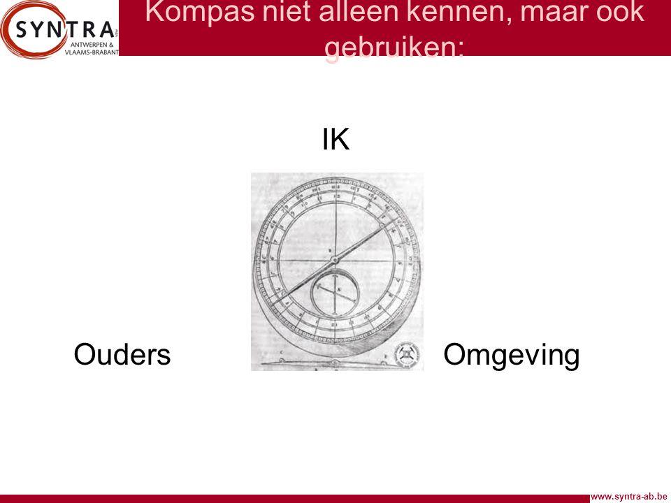 Kompas niet alleen kennen, maar ook gebruiken: