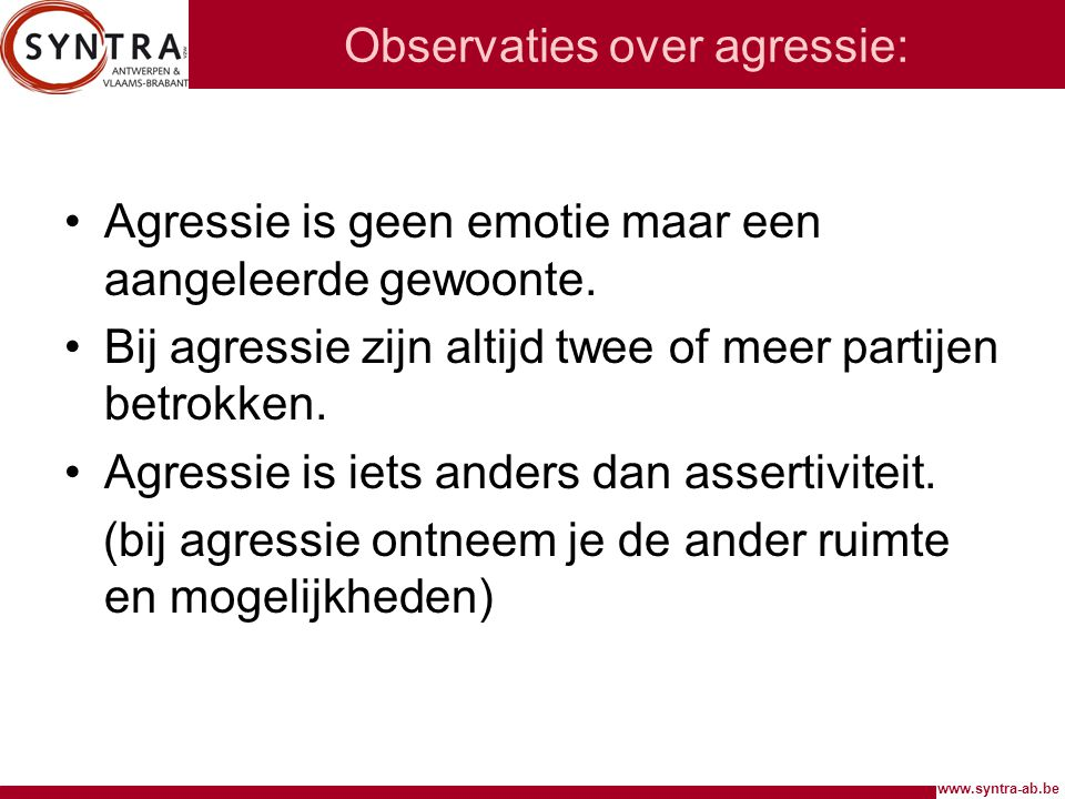 Observaties over agressie:
