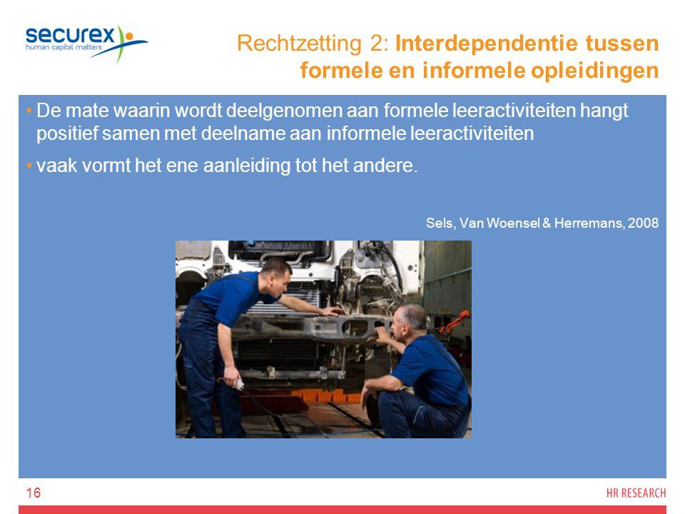 Rechtzetting 2: Interdependentie tussen formele en informele opleidingen