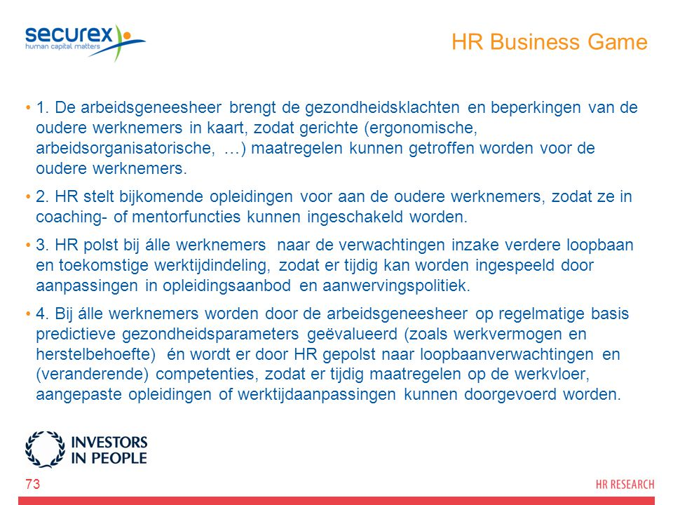 HR Business Game