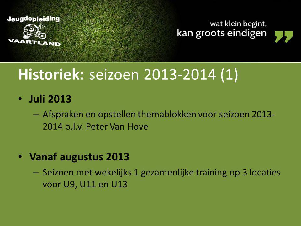 Historiek: seizoen 2013-2014 (1)