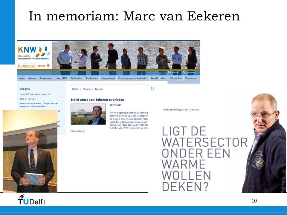 In memoriam: Marc van Eekeren