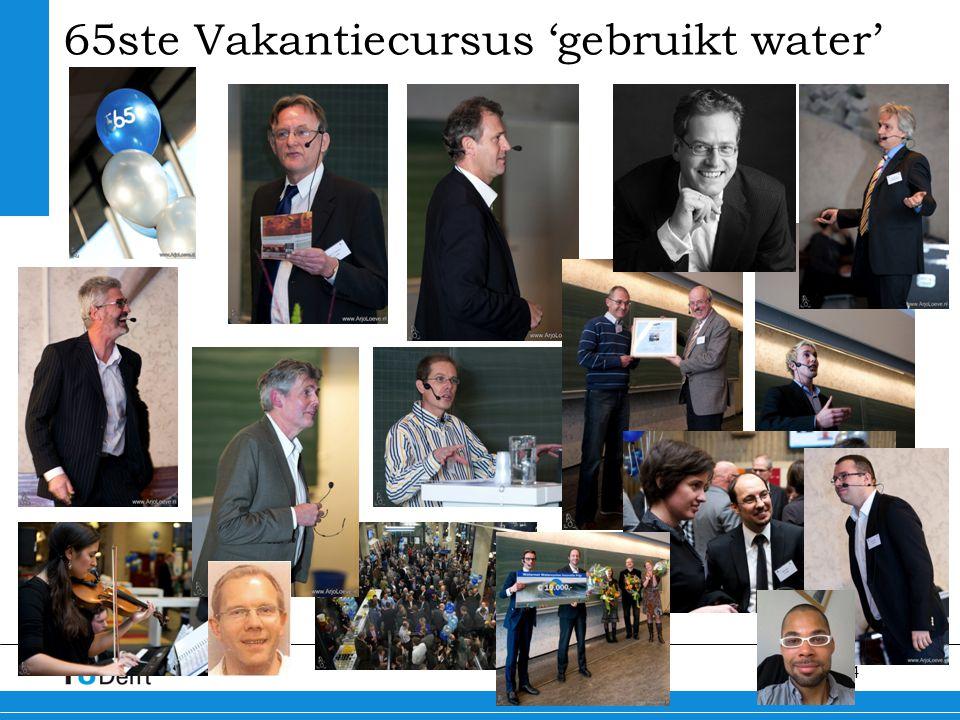 65ste Vakantiecursus 'gebruikt water'