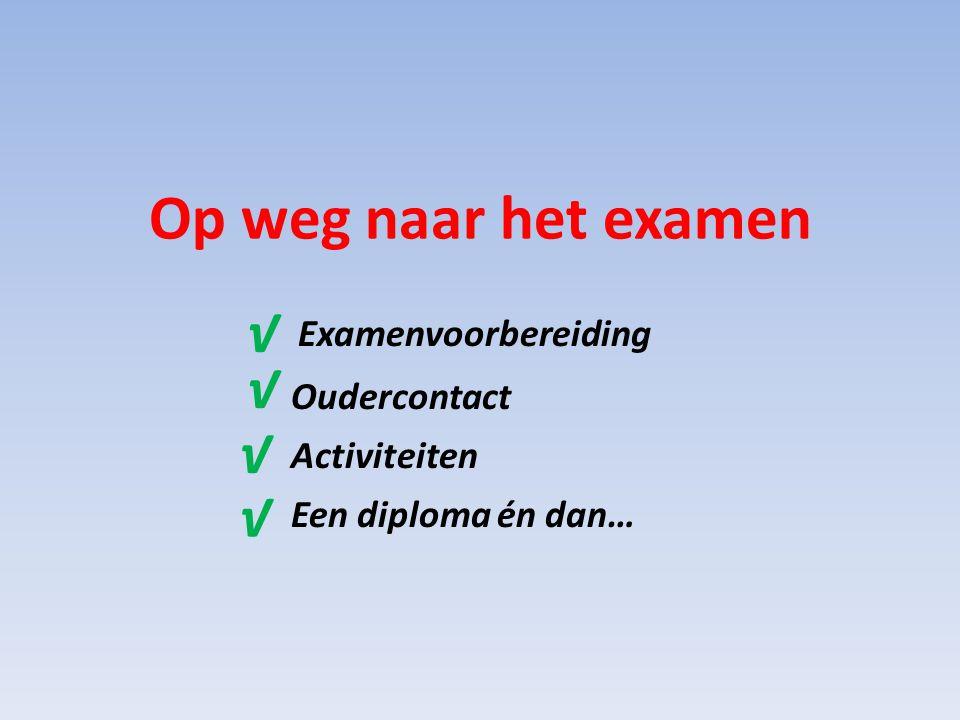 Examenvoorbereiding Oudercontact Activiteiten Een diploma én dan…