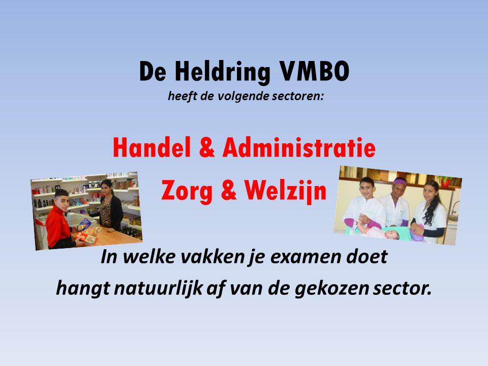 De Heldring VMBO heeft de volgende sectoren: