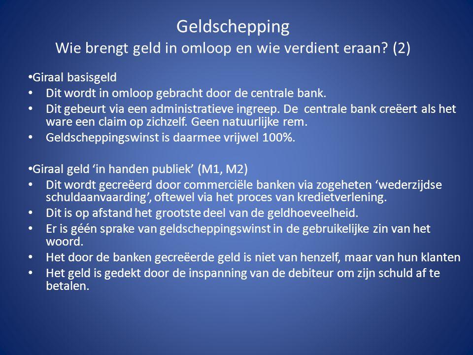 Geldschepping Wie brengt geld in omloop en wie verdient eraan (2)