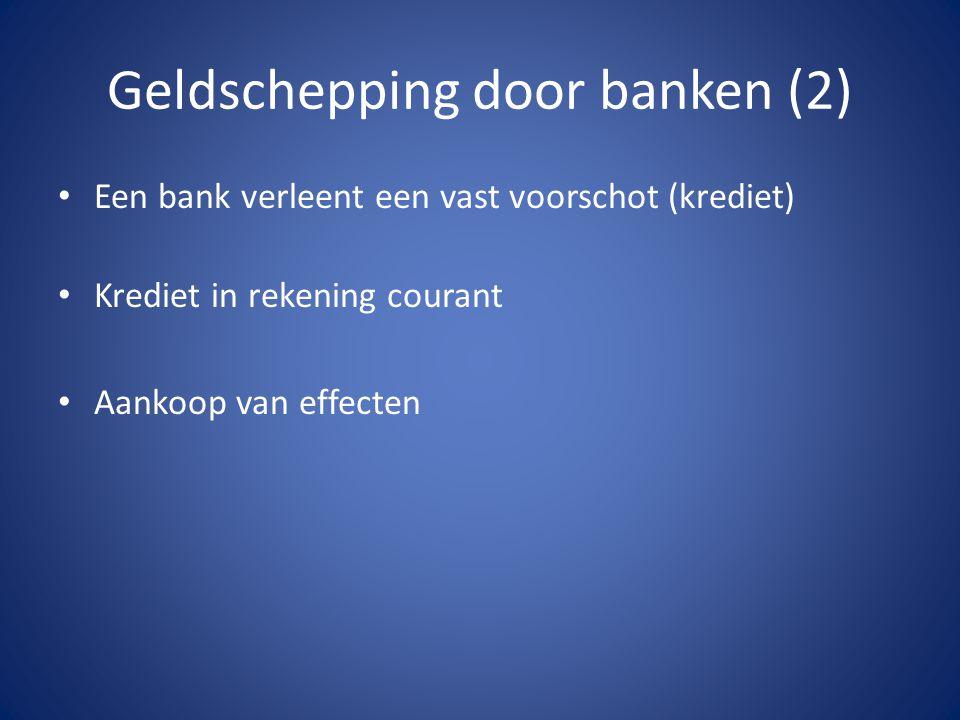Geldschepping door banken (2)
