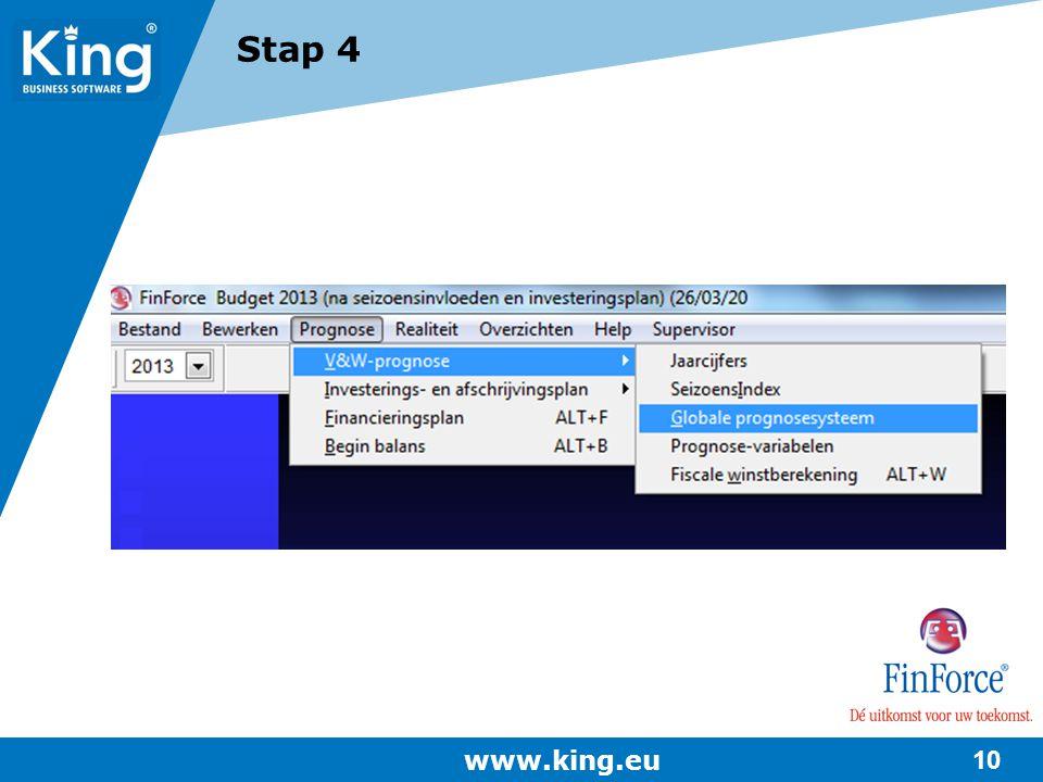 Stap 4 www.king.eu