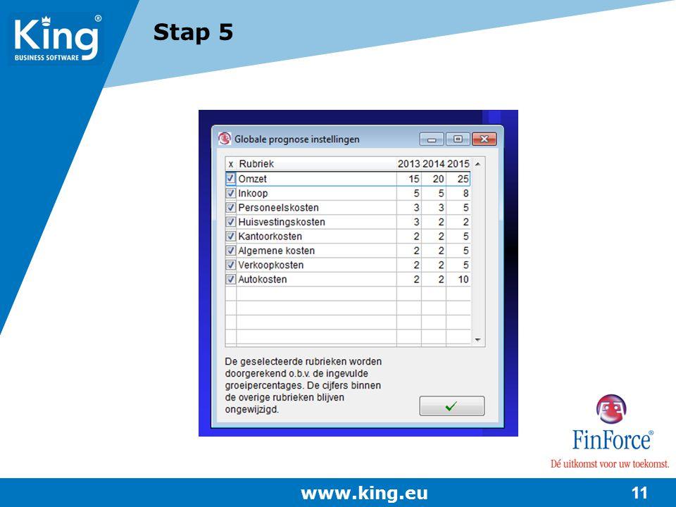 Stap 5 www.king.eu