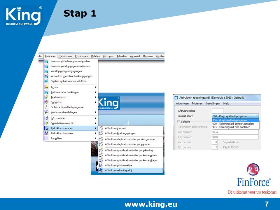 Stap 1 www.king.eu