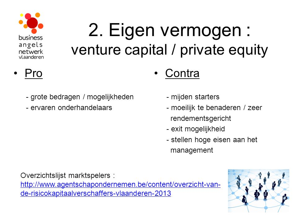 2. Eigen vermogen : venture capital / private equity