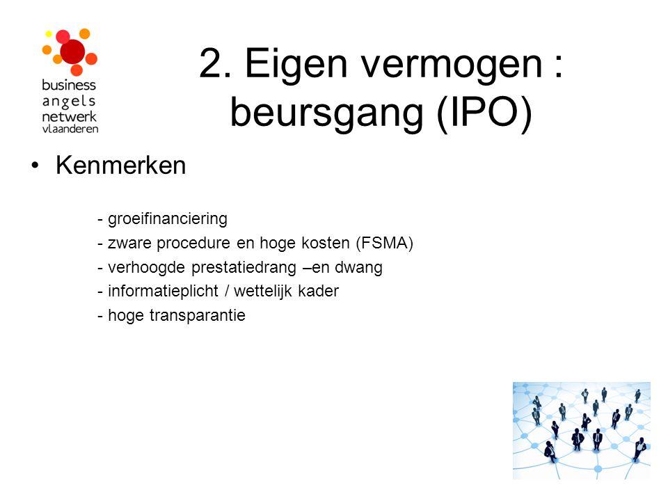 2. Eigen vermogen : beursgang (IPO)