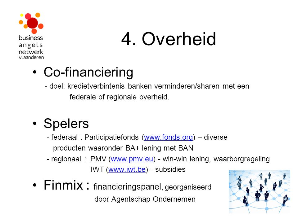 4. Overheid Co-financiering Spelers